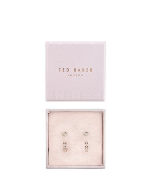 Ted Baker Rose Gold Heart Huggie Earring Set   - Click to view larger image