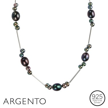 Argento Silver Coloured Pearl Necklace
