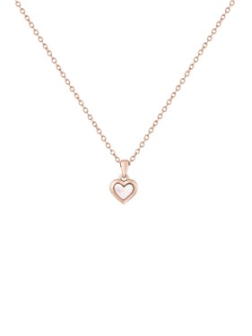 Ted Baker Rose Gold Mother Of Pearl Heart Necklace   - Click to view larger image