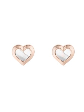 Ted Baker Rose Gold Mother Of Pearl Heart Earrings   - Click to view larger image
