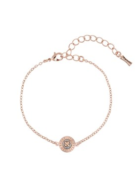 Ted Baker Rose Gold Glitter Button Bracelet   - Click to view larger image