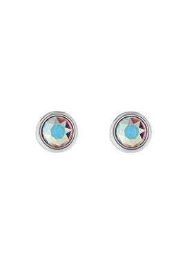 Ted Baker Silver Iridescent Crystal Earrings  - Click to view larger image