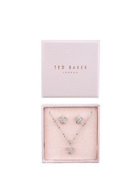 Ted Baker Silver Crystal Star Set   - Click to view larger image