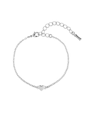 Ted Baker Silver Tiny Heart Bracelet   - Click to view larger image