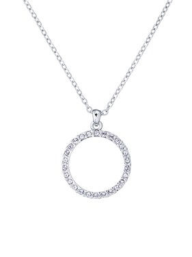 Ted Baker Silver Crystal Circle Necklace  - Click to view larger image