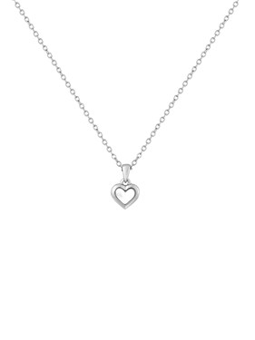 Ted Baker Silver Mother Of Pearl Heart Necklace   - Click to view larger image