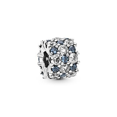 Pandora Blue & Clear Sparkle Charm  - Click to view larger image
