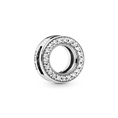 Pandora Circle of Pave Clip Charm  - Click to view larger image