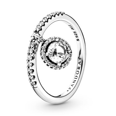 Pandora Clear Sparkle Silver Ring  - Click to view larger image