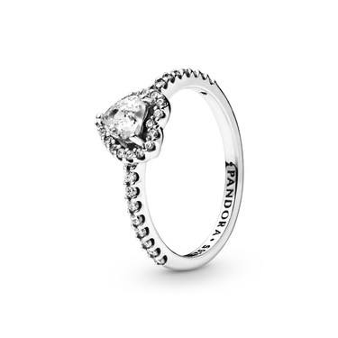 Pandora Elevated Heart Ring  - Click to view larger image