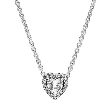 Pandora Elevated Heart Necklace  - Click to view larger image