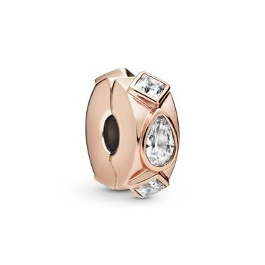 Pandora Geometric Shapes Clip Charm  - Click to view larger image