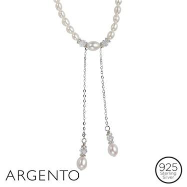 Argento Pearl Drop Necklace