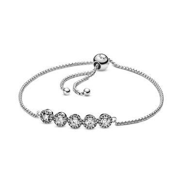 Pandora Round Sparkle Slider Bracelet  - Click to view larger image