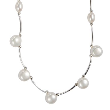 Argento Silver Pearl Necklace
