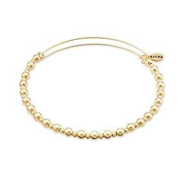 Karma Gold Core Beaded Bangle  - Click to view larger image