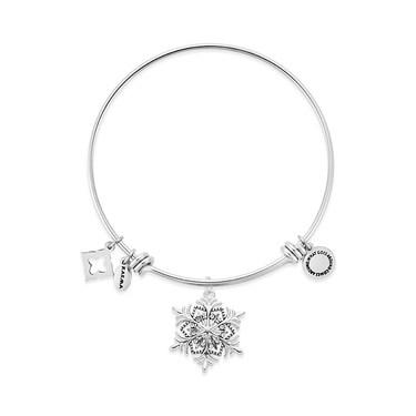 Karma Silver Snowflake Bangle  - Click to view larger image