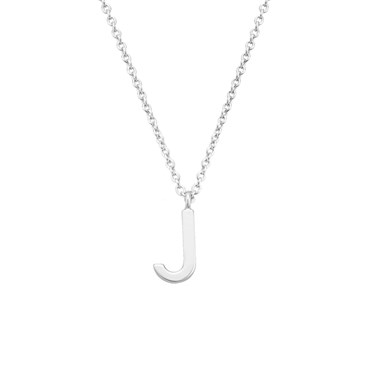 Argento Silver Letter J Initial Necklace 1