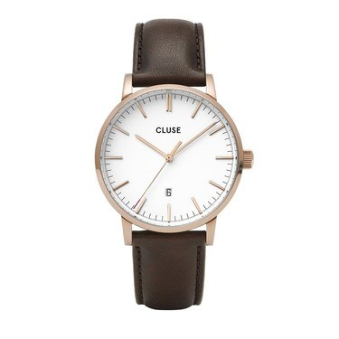 CLUSE Aravis Brown Leather Mens Watch   - Click to view larger image