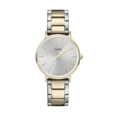 CLUSE Minuit Trio Link Gold + Silver Watch   - Click to view larger image