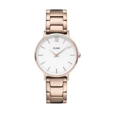 CLUSE Minuit Trio Link Rose Gold Watch   - Click to view larger image