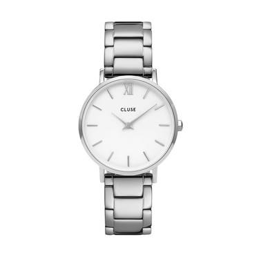 CLUSE Minuit Trio Link Silver Watch   - Click to view larger image