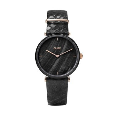 CLUSE Triomphe Black Alligator Watch   - Click to view larger image