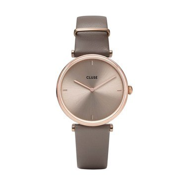CLUSE Triomphe Taupe Leather Watch   - Click to view larger image