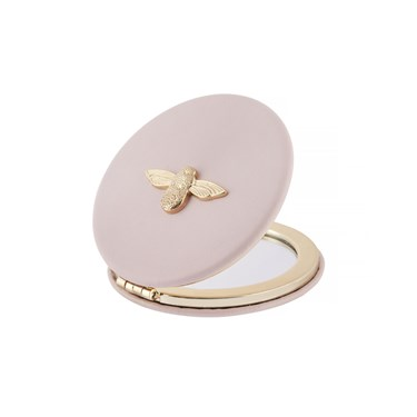Olivia Burton 3D Bee Pink & Gold Mirror   - Click to view larger image