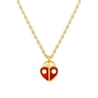 Kate Spade New York Red Ladybug Heart Necklace  - Click to view larger image
