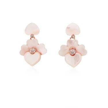 Kate Spade New York Rose Gold Cream Orchid Drop Earrings  - Click to view larger image