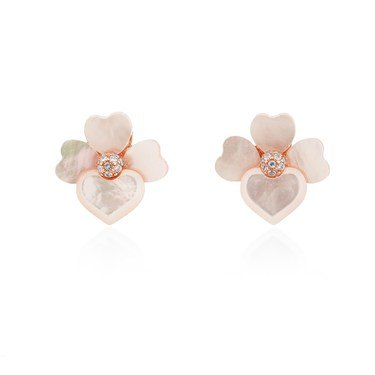 Kate Spade New York Rose Gold Cream Orchid Studs  - Click to view larger image