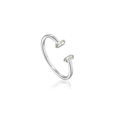 Ania Haie Silver Glow Adjustable Ring - Silver