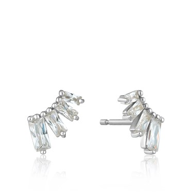 Ania Haie Silver Glow Bar Stud Earrings - Silver