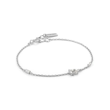 Ania Haie Silver Cluster Sparkle Bracelet   - Click to view larger image