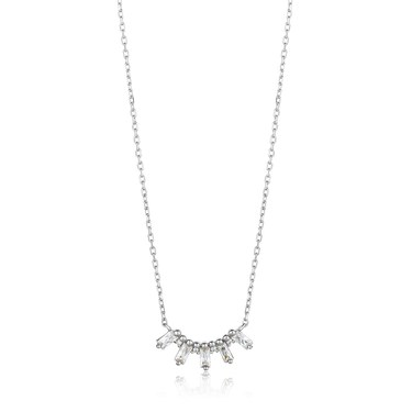 Ania Haie Silver Glow Solid Bar Necklace  - Click to view larger image