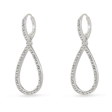 Pilgrim Classic Silver Delia Drop Earrings  - Click to view larger image