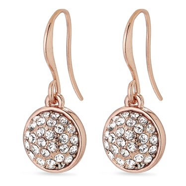 Pilgrim Classic Rose Gold Heather Drop Earrings  - Click to view larger image