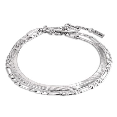 Pilgrim Silver Yggdrasil Layered Bracelet   - Click to view larger image