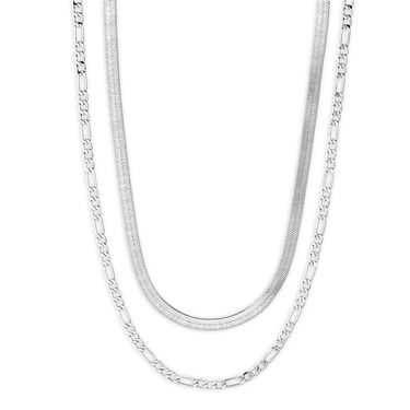 Pilgrim Silver Yggdrasil Layered Necklace  - Click to view larger image