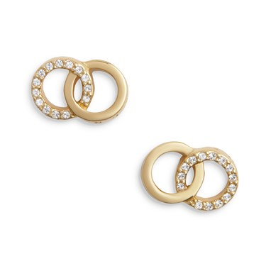 Olivia Burton Rose Gold Bejewelled Earrings  - Click to view larger image