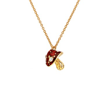 Vivienne Westwood Orla Gold Mushroom Necklace  - Click to view larger image