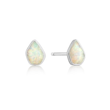 Ania Haie Silver Opal Stud Earrings  - Click to view larger image