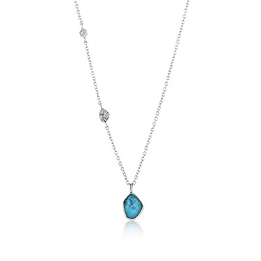 Ania Haie Silver Turquoise Necklace  - Click to view larger image