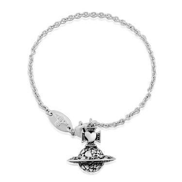 Vivienne Westwood Antique Odelina Orb Hanging Bracelet  - Click to view larger image
