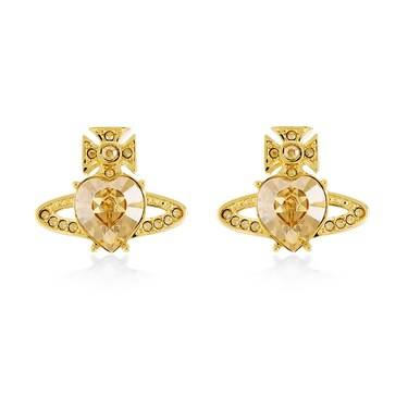 Vivienne Westwood Ariella Gold Heart Earrings   - Click to view larger image