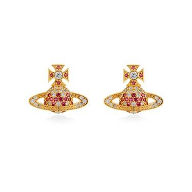 Vivienne Westwood Virginia Bas Relief Pink Earrings  - Click to view larger image
