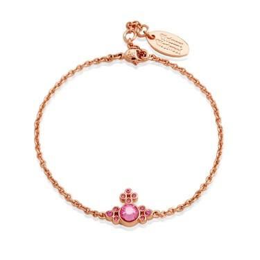 Vivienne Westwood Rose Gold Brucella Pink Bracelet  - Click to view larger image
