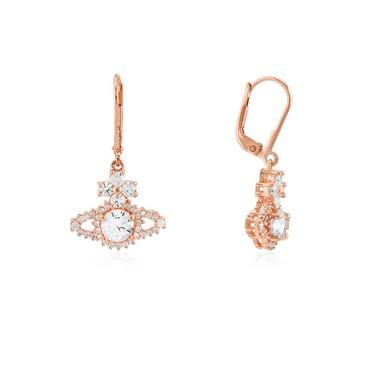 Vivienne Westwood Rose Gold Valentina Drop Earrings  - Click to view larger image
