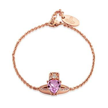 Vivienne Westwood Ariella Rose Gold Heart Bracelet   - Click to view larger image
